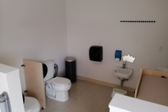 Washroom with Diaper Change Station